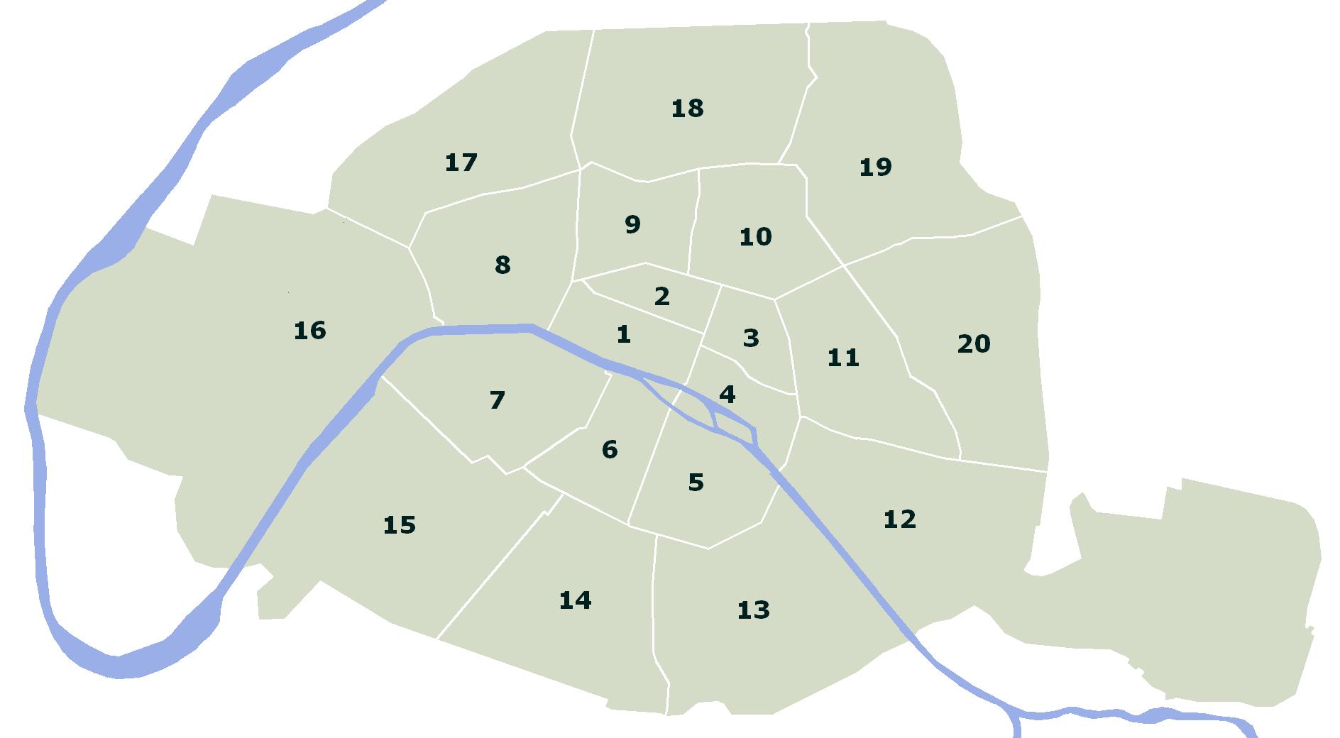 Arrondissementen - Puur Parijs