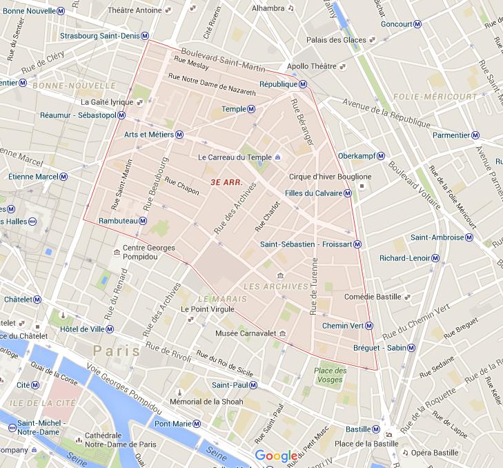 3e arrondissement - Puur Parijs
