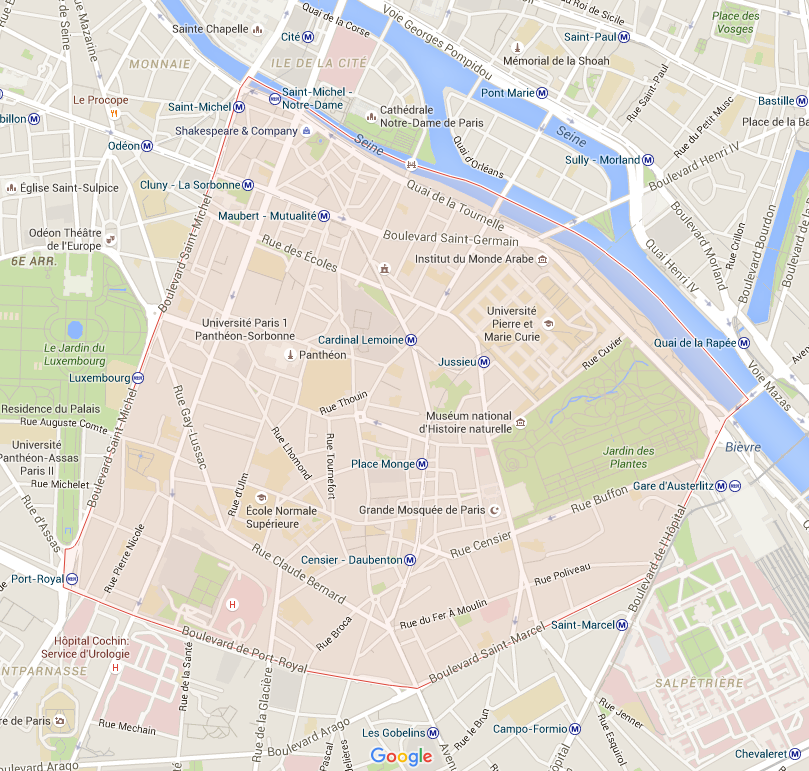 5e arrondissement - Puur Parijs