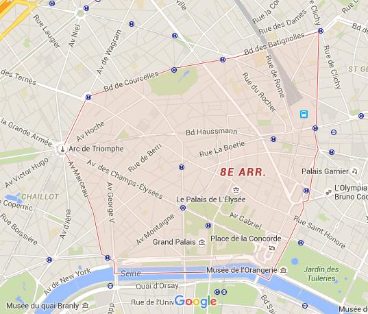 8e arrondissement - Puur Parijs
