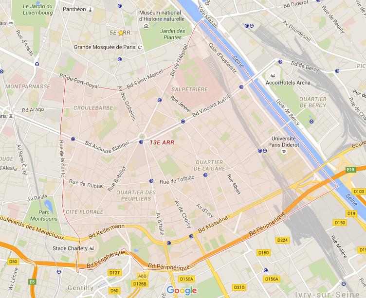 13e arrondissement - Puur Parijs