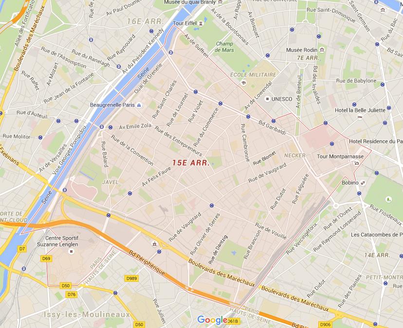 15e arrondissement - Puur Parijs