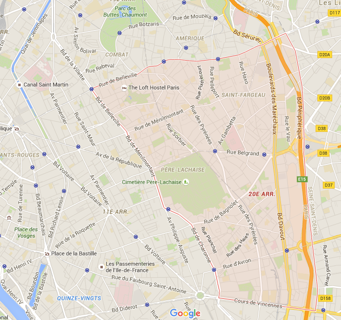 20e arrondissement - Puur Parijs