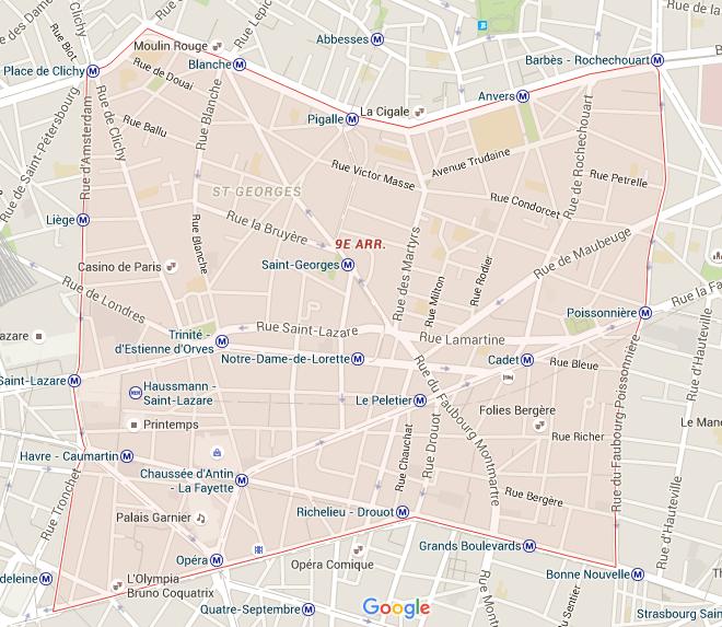 9e arrondissement - Puur Parijs