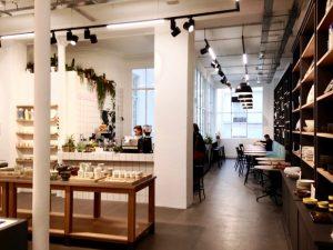 Coffeecorner in Empreintes, een conceptstore in Parijs