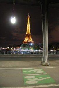Eiffeltoren met fietspad