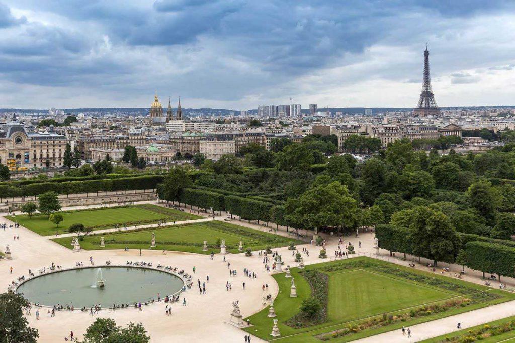 Jardin des Tuileries Eiffel Puur Parijs