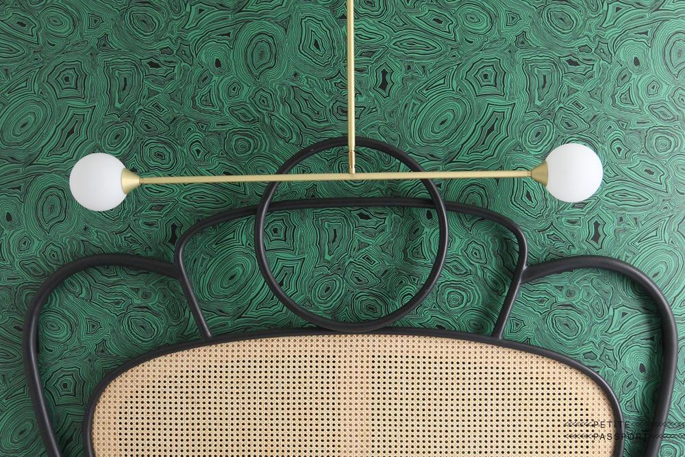 Hotel Panache groen behang Puur Parijs